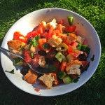 Panzanella recipe with olives