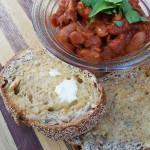 Breakfast homemade beans on toast