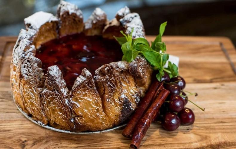 RECIPE: Dean's Almond Cherry Croissant Cheesecake